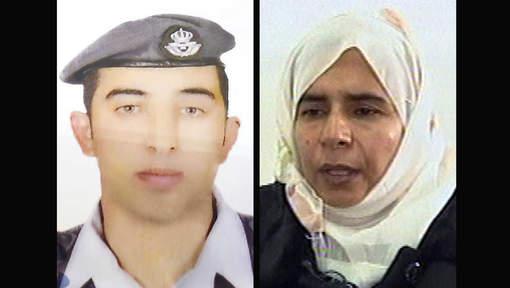 Maaz al-Kassasbeh et Sajida al-Rishawi