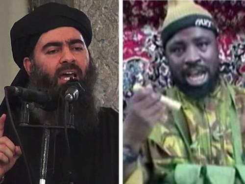 Al-Baghdadi et Abubakar Shekau