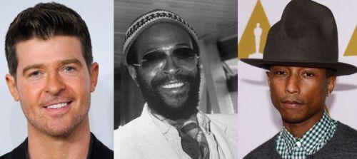Robin Thicke, Marvin Gaye et Pharrell Williams