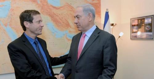 Isaac Herzog et Benyamin Netanyahu
