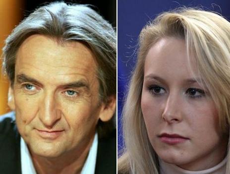 Roger Auque et Marion Marechal-Le Pen