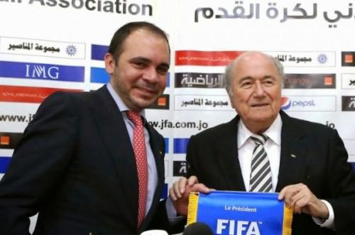 Prince Ali et Sepp Blatter