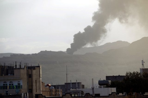Raid meurtrier sur la ville de Saada, au Yémen. Image: Keystone