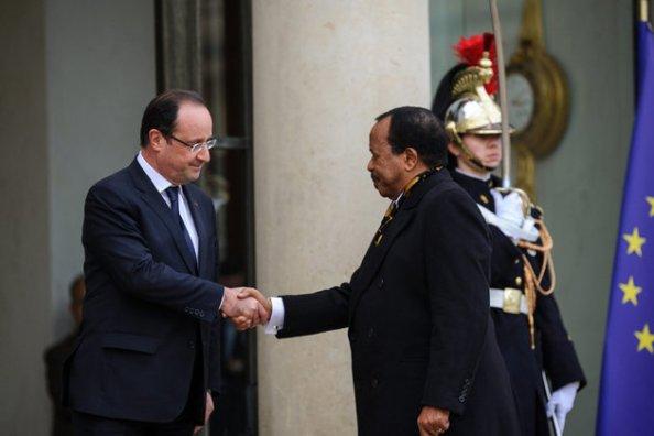 Francois Hollande et Paul Biya