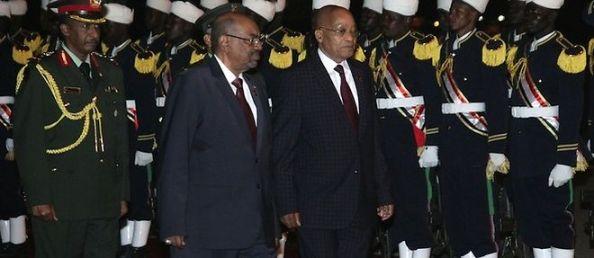 Omar el-Béchir et Jacob Zuma