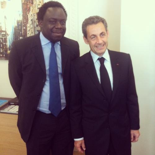 Stéphane Tiki et Nicolas Sarkozy