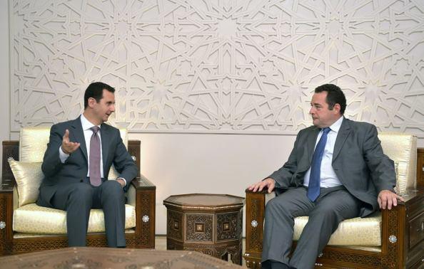 Bachar al-Assad et Jean-Frédéric Poisson