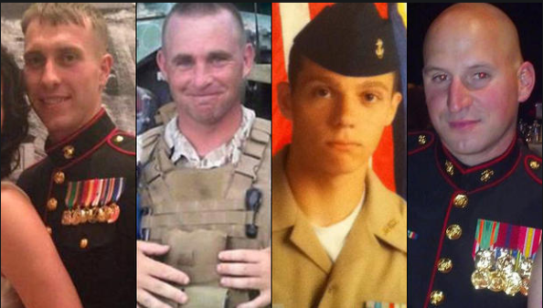 Les 4 Marines tués