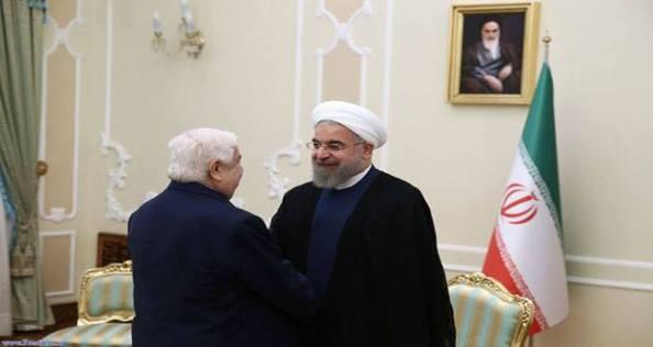 al-Mouallem et Hassan Rohani