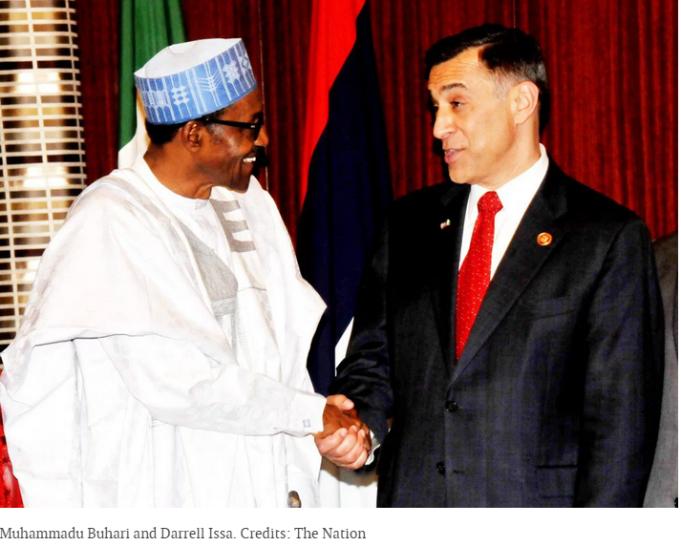 Muhammadu Buhari et Darell Issa